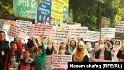 افغانهای معترض در هند