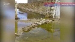 Saray qəsəbəsi su altında...