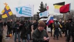 Російські націоналісти заважають акції «Петербург за Майдан»