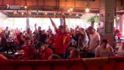 Soccer Fans Enjoy North Macedonia's Euro Premiere