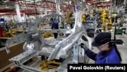 Mercedes Benz gyár Oroszországban, 2019. április 3-án