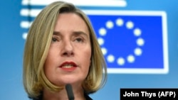 European powers that helped to negotiate the accord are expected to reassure Iran that they remain committed to the nuclear deal at a meeting hosted by EU foreign policy chief Federica Mogherini in Brussels on January 11. (file photo)