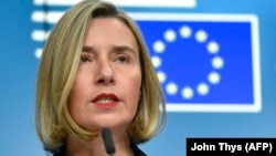EU foreign-policy chief Federica Mogherini (file photo)