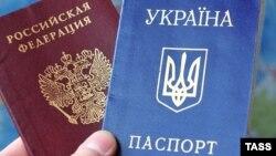 Russian and Ukrainia passports - generic
