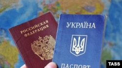 Russian and Ukrainia passports - generic