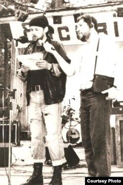 Басовішча 1991 году. Ян Максімюк і Юрка Ляшчынскі