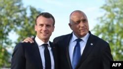Еманюел Макрон и Бойко Борисов по време на посещението на френския президент в България през май 2018 г.