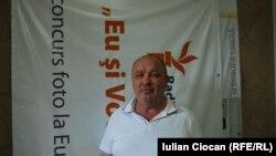 Nicolae Guțanu în studioul Europei Libere la Chișinău