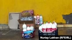 Kazakhstan-Almaty region. Milk for sale. April 3, 2020