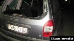 """Фото поврежденного автомобиля предоставлено агентством """"Озодагон"""""""