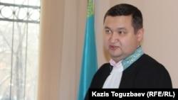Руслан Баишев, судья апелляционной коллегии Алматинского городского суда. Алматы, 19 декабря, 2014 года.