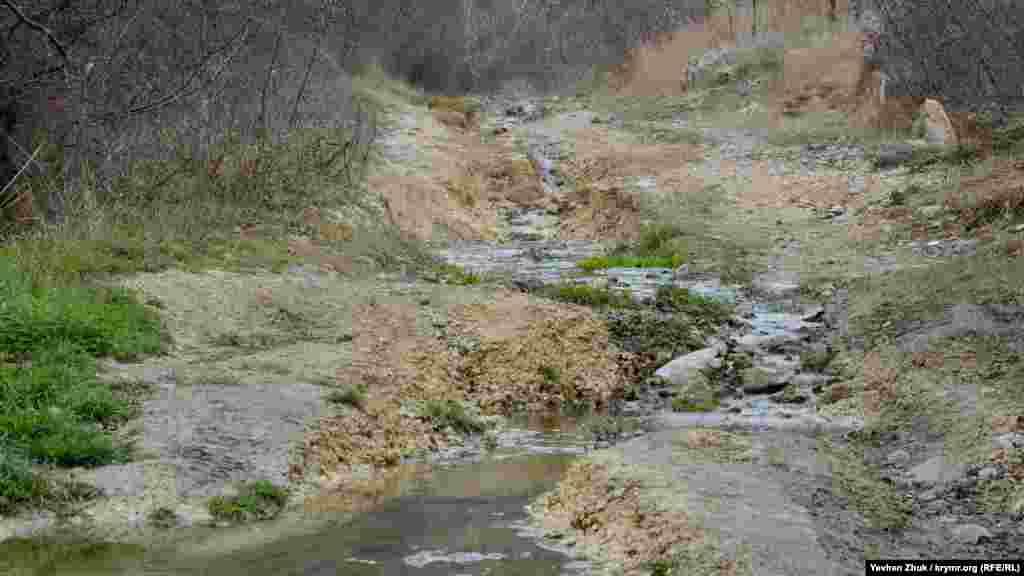 В некоторых местах встречаются ручьи. Поговаривают, что сто лет назад родники, берущие свое начало в Сарандинакиной балке, питали весь город пресной водой. Сейчас же вода течет вместе с мусором из гаражных кооперативов, имеет неприятный запах и непригодна для питья