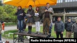 Протест пред МРТВ
