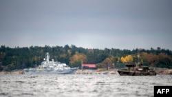 Pamje nga kërkimet e nëndetëses së huaj në Stokholm