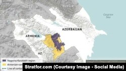 Azerbaijan -- Nagorno-Karabakh`s map (stratfor.com - shreenshoot)