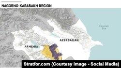 Azərbaycan, Dağlıq Qarabağ münaqişə zonası (stratfor.com - shreenshoot)