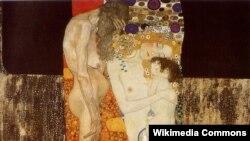Густаў Клімт. Тры ўзросты жанчыны (фрагмэнт). 1905