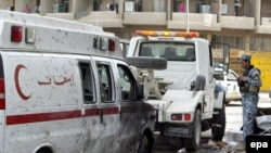 The Karrada attack on April 23 targeted police and Red Crescent workers who were distributing aid.
