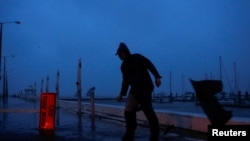 Worst Storm In Decade Makes Landfall In U.S. State Of Texas
