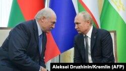 Аляксандар Лукашэнка і Ўладзімір Пуцін