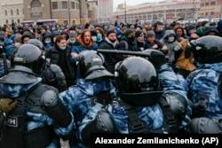 Протесты в Москве 31 января