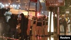 Полиция на месте теракта в Стамбуле 6 января