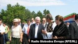 Ivo Josipović i Boris Tadić u nedelju u Subotici, foto: Vesela Laloš