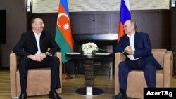 İ.Əliyev və V.Putin, Soçi, Rusiya, 21 iyul