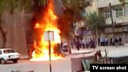 معترضان سوری در درعا مقر حزب بعث را به آتش کشیدند