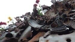 «Хай життя перемагає»: у Запоріжжі «Залізний трон» прикрасили квітами (відео)