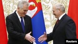 Таміслаў Нікаліч і Аляксандар Лукашэнка