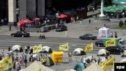 Украинцы выражают свои политические пристрастия на улицах Киева