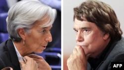Глава МВФ Кристин Лагард (слева) и французский магнат Бернар Тапи.