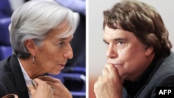 Глава МВФ Кристин Лагард и французский бизнесмен Бернар Тапи (комбинированная фотография)
