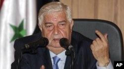 Министр иностранных дел Сирии Валид аль-Муаллем
