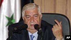 Министр иностранных дел Сирии Валид аль-Муалем