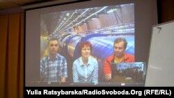 Відеоконференція з творцями Великого колайдера у Швейцарії, Дніпропетровськ, Дніпропетровський національний університет, 15 березня 2012 року