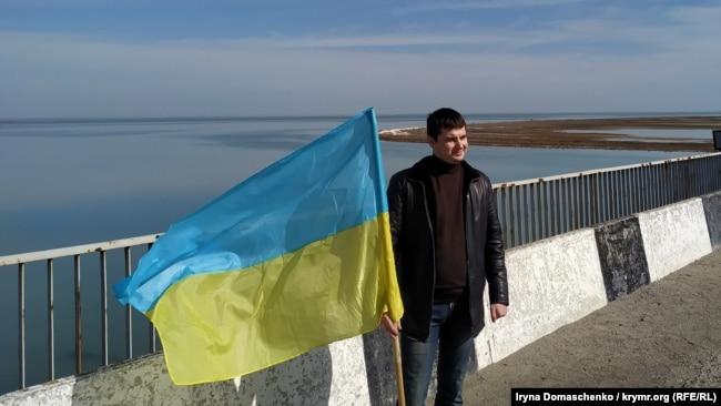 «Помним, боремся, победим!»: «Чонгар» в годовщину захвата Крыма (фотогалерея)