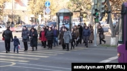 Armenia-People in Armenian streets,Yerevan,11Dec,2019