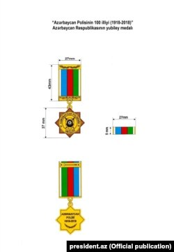 """""""Azərbaycan Polisinin 100 illiyi"""" medalı"""