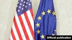 Zastave SAD i EU
