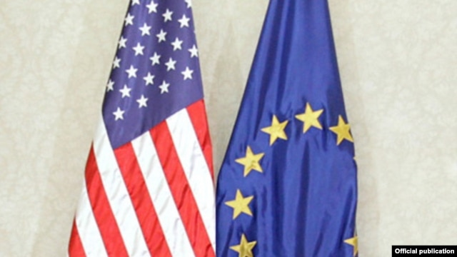 The European Union and the United States have issued a joint declaration pledging that human rights and respect for Islam will play a key role in their combined efforts to combat terrorism.