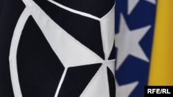 Zastava NATO-a i Bosne i Hercegovine