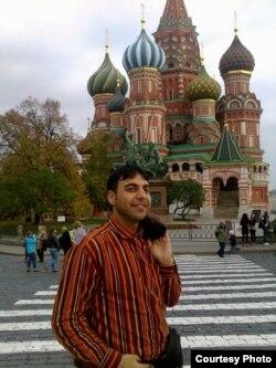 Самер Абу-Зейд на Красной площади в Москве