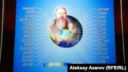 Стенд, на котором показано, на какие языки переведены произведения Абая. Иллюстративное фото.