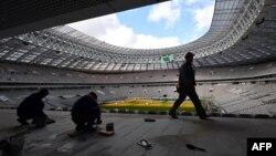 """Реконструкция стадиона """"Лужники"""" в Москве, март 2017 года"""
