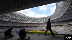 Реконструкція стадіону «Лужники» в Москві, Росія, березень 2017 року