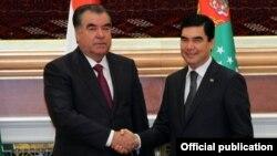 Täjigistanyň we Türkmenistanyň prezidentleri