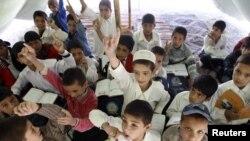 O școală improvizată din Afganistan