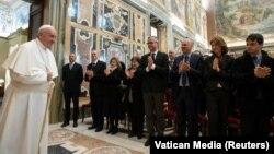 Папа Францішак падчас аўдыенцыі ў Ватыкане, сакавік 2019